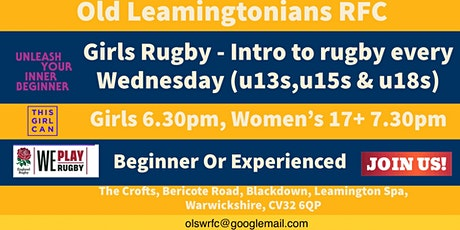 Girls Rugby - Intro to rugby every Wednesday (u13s,u15s & u18s) tickets