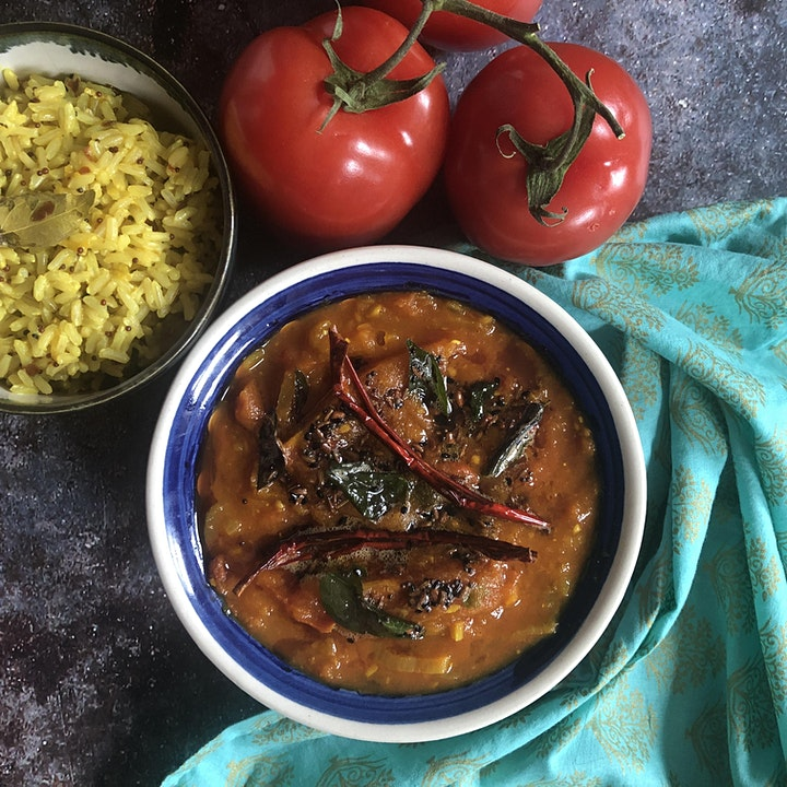 Platewell Vegan Cooking Class l Tomato Curry with Lemon Rice image