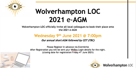 Wolverhampton LOC 2021 e-AGM & CET event tickets