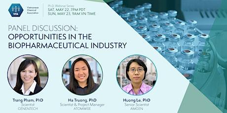 VCA PhD Webinar - Opportunities in the Biopharma Industry tickets
