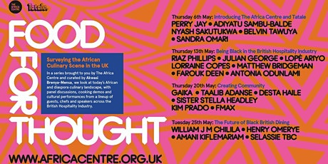 Food for thought: Surveying the African Culinary Landscape in the UK tickets