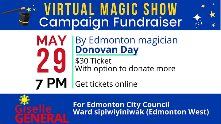 Virtual Magic Show Campaign Fundraiser - Giselle for Edmonton Council image