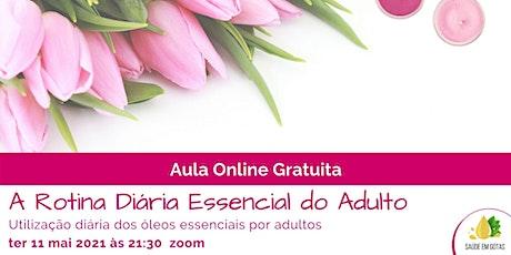 """Aula """"A Rotina Diária Essencial do Adulto"""" bilhetes"""
