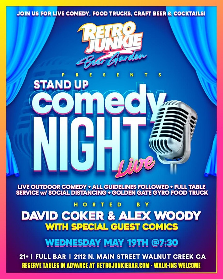 Comedy Night in the Beer Garden with David Coker & Alex Woody 7:30PM image