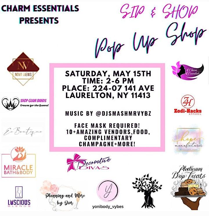 Sip and Shop! Pop Up Shop image