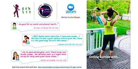 Online Zumba Class (Sun, Jul 25th) - 60min. tickets