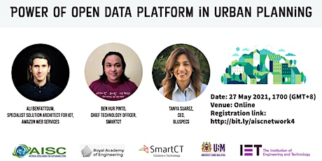 Power of open data platform in urban planning Tickets