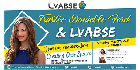 Trustee Danielle Ford  and LVABSE tickets