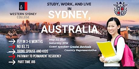 FREE WEBINAR: Study, Work & Live in Sydney, Australia tickets