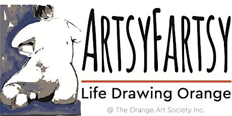 ArtsyFartsy Life Drawing Orange - JUNE tickets
