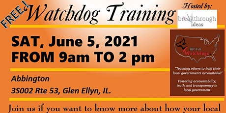 Watchdog Training - Free tickets