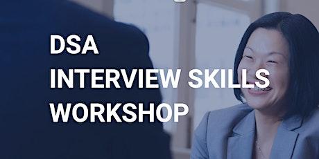 DSA Interview Skills Workshop - 4 June 2021 tickets