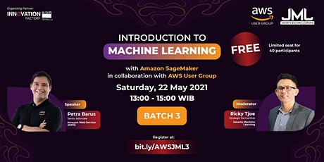 Introduction to Machine Learning with AWS SageMaker (Batch 3) tickets