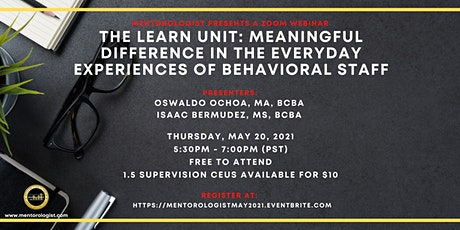 Mentorologist Event with Ozzie Ochoa, MA, BCBA and Isaac Bermudez, MS, BCBA tickets