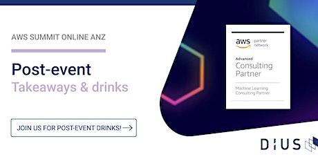AWS Summit Online ANZ - Post Event Drinks tickets