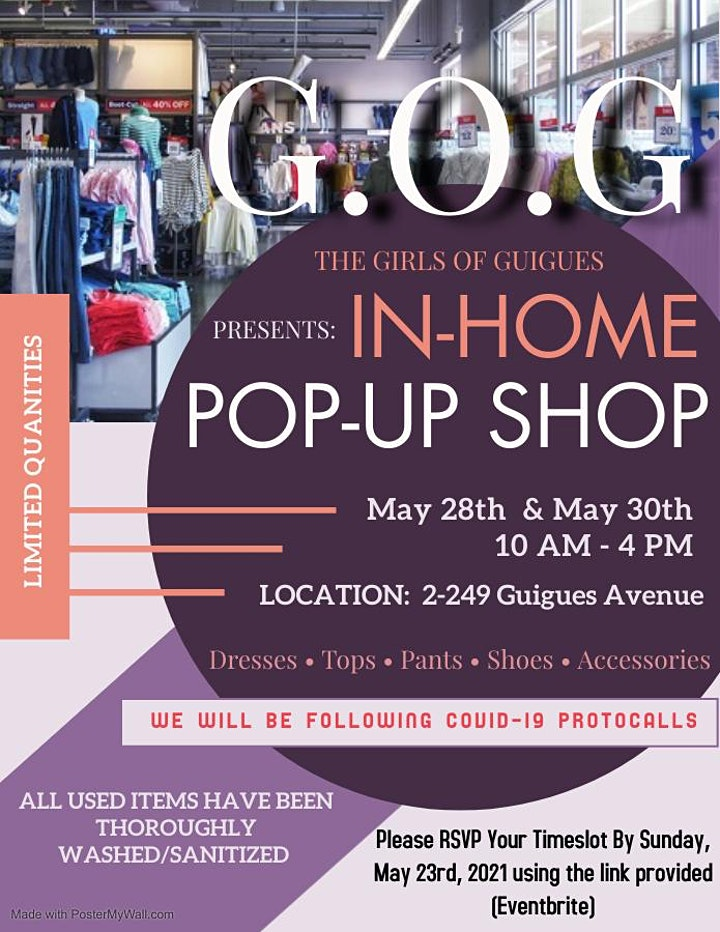 G.O.Gs In-Home Pop-Up Shop image