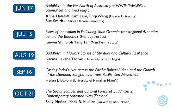 Buddhism in the Sea of Islands Webinar Series - June webinar image