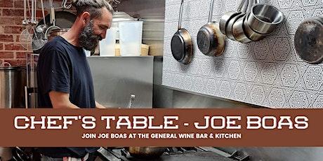 Chef's Table - Joe Boas at The General Wine Bar tickets