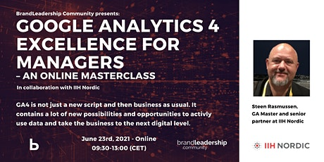 Google Analytics 4 Excellence for Managers – An Online Masterclass tickets