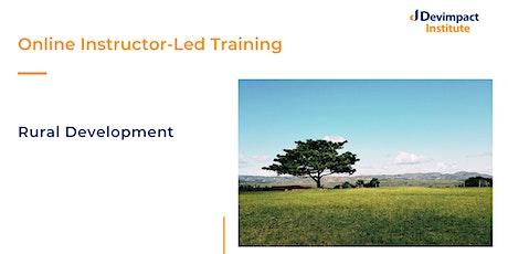 Training on Rural Development tickets