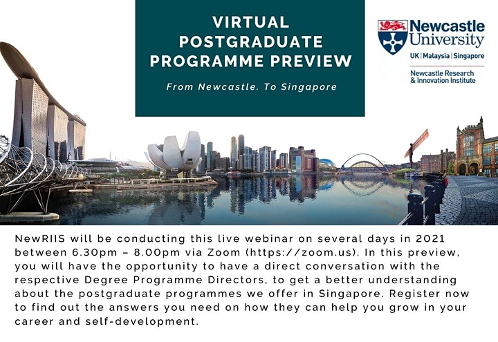 Postgraduate Programme Preview by Newcastle based in Singapore image