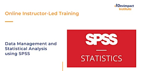 Training on Data Management and Statistical Analysis using SPSS tickets
