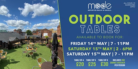 Mode Beer Garden Saturday 15th May tickets