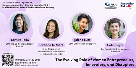 The Evolving Role of Women Entrepreneurs, Innovators and Disruptors tickets