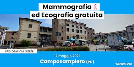 Mammografia ed Ecografia Gratuita - Camposampiero (PD)  17 maggio 2021 biglietti