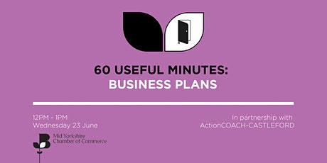60 Useful Minutes - Business plans tickets