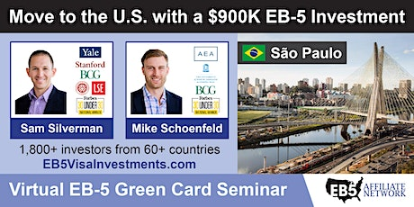 U.S. Green Card Virtual Seminar – Sao Paulo, Brazil ingressos