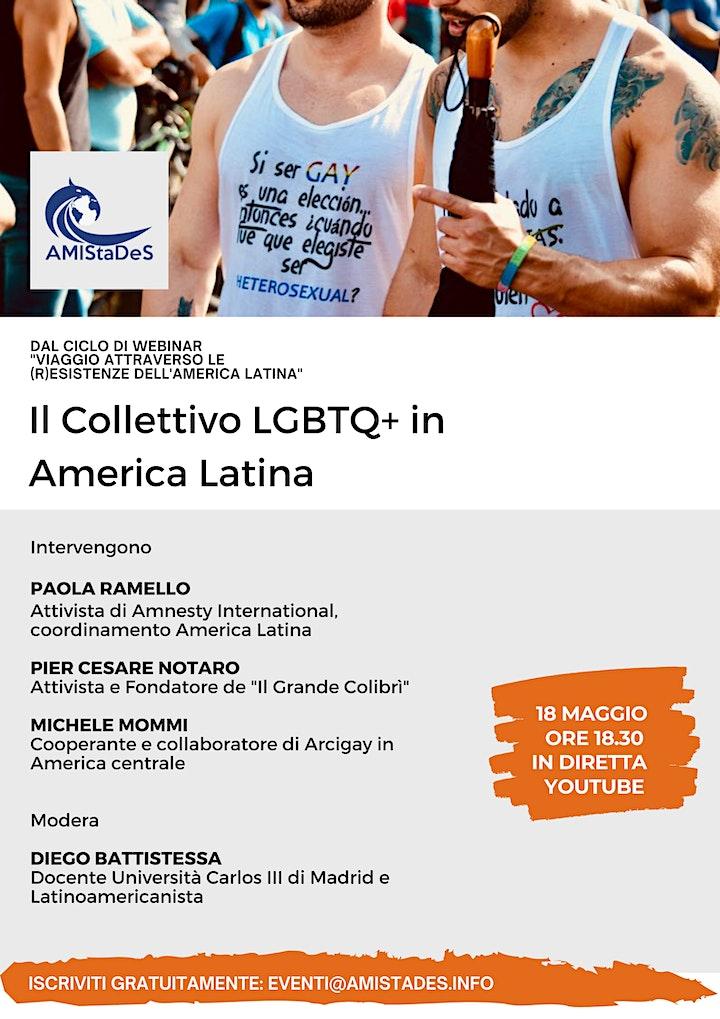 """Immagine Webinar gratuito """"Il Collettivo LGBTQ+ in America Latina"""""""