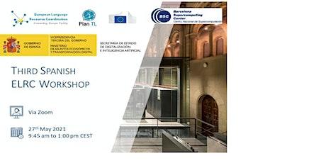 3er Taller ELRC en España - IA del lenguaje para AAPP y PYMEs boletos