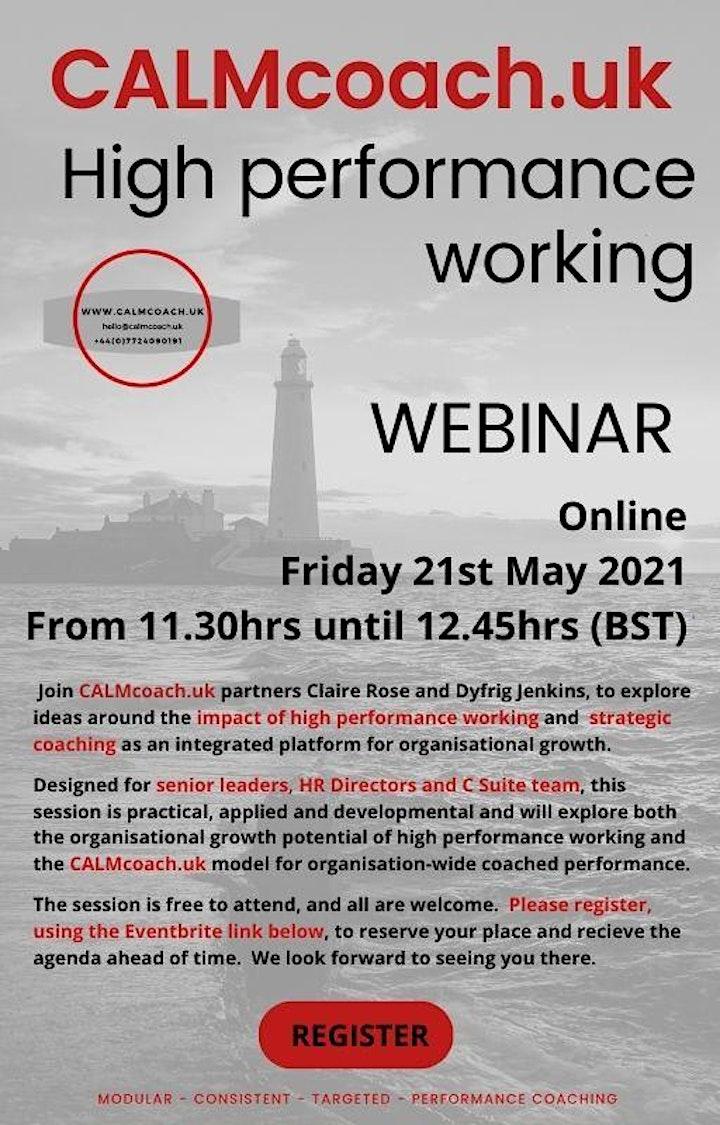 CALMcoach UK: High Performance Working image