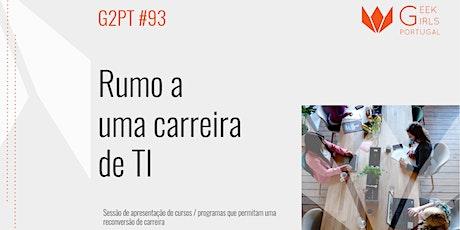 G2PT93 - 93º Geek Girls Portugal Online bilhetes