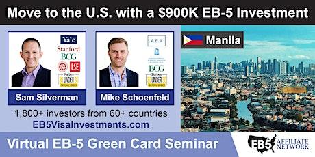 U.S. Green Card Virtual Seminar – Manila, Philippines tickets