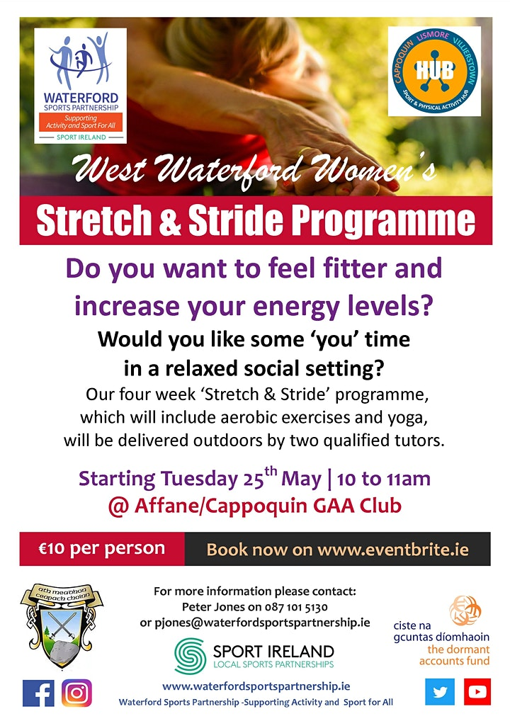 West Waterford Womens Stretch & Stride Programme 25th May 2021 1000-1100am image