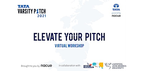 Elevate Your Pitch Virtual Workshop 6th July 2021 tickets