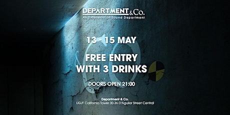 FREE DRINKS GUESTLIST @ Department & Co. tickets
