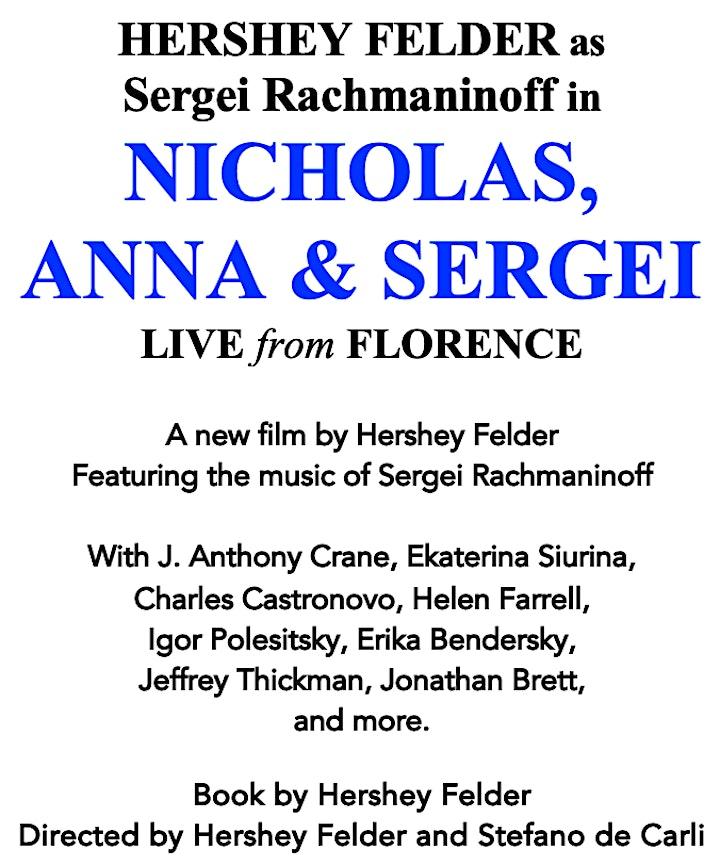 Hershey Felder as Sergei Rachmaninoff in NICHOLAS, ANNA & SERGEI image