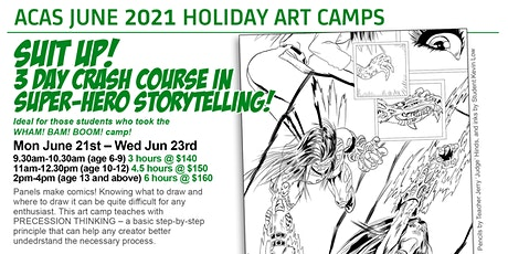 SUIT UP! 3 Day Crash Course in Super-Hero Storytelling Camp! tickets