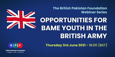 Opportunities for BAME  Youth in The British Army tickets