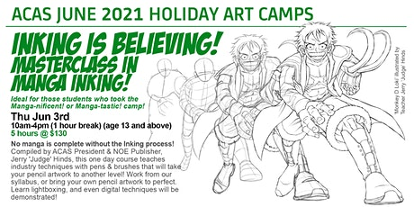 INKING IS BELIEVING! Masterclass in Manga Inking! tickets