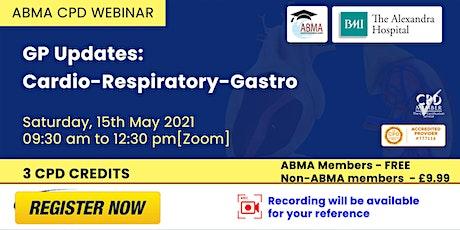 GP Updates: Cardio-Respiratory-Gastro tickets