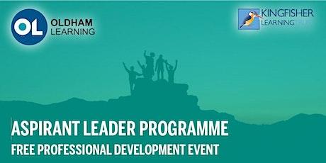 Aspirant Leader Programme Online Event tickets