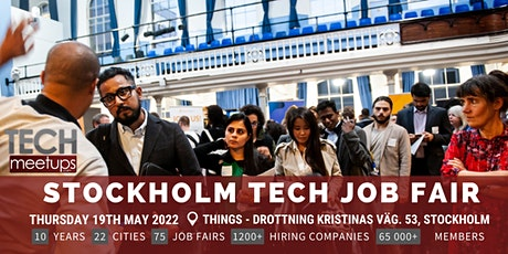 Stockholm Tech Job Fair  By Techmeetups biljetter
