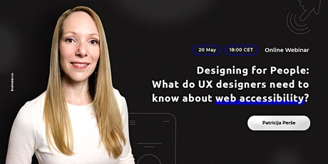 Designing for People - Web Accessibility guidelines for UX/UI Designers tickets