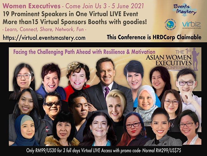 The 1st Virtual LIVE Asian Women Executives Conference image