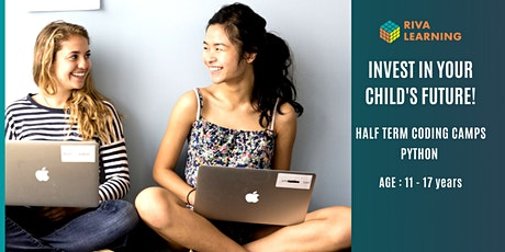 Half Term Coding Camps - Python coding for kids and teens! biglietti