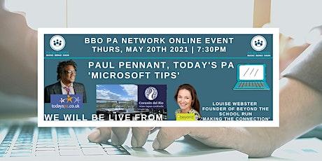 BBO PA Network ONLINE - PAul Pennant 'Microsoft' & Louise Webster-20/05/21 tickets